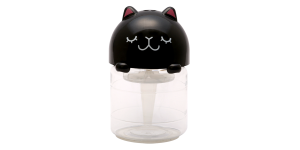 Mini-Animal Car Aerator (Black Cat with Closed Eyes)