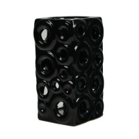 Ceramic Burner - Circles Design (Black)