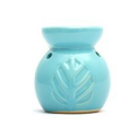 Ceramic Burner - Leaves Design (Blue)