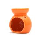 Ceramic Burner - Leaves Design (Orange)