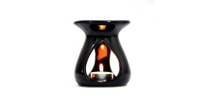 Ceramic Burner - Teardrop Design (Black)