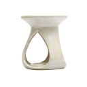 Ceramic Burner - Teardrop Design (White)