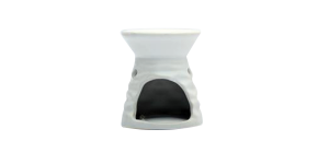 Ceramic Burner - Wave Design (White)