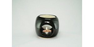 Ceramic Burner - Dice Design (Black)