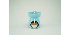 Ceramic Burner - Flower Design (Blue)