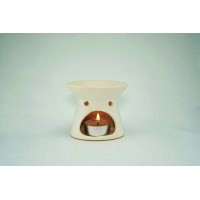 Ceramic Burner - Ripple Design (White)