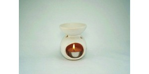 Ceramic Burner - Round Design (White)