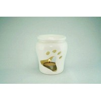 Porcelain Burner - Paw Design (White)