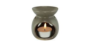 Ceramic Burner - Flower Design (Gray)