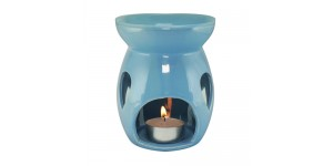 Ceramic Burner - Raindrop Design (Blue)