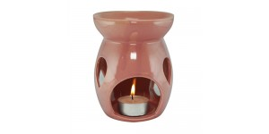 Ceramic Burner - Raindrop Design (Pink)