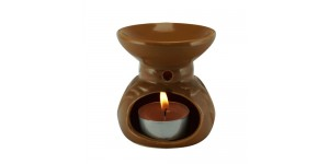 Ceramic Burner - Vine Design (Brown)